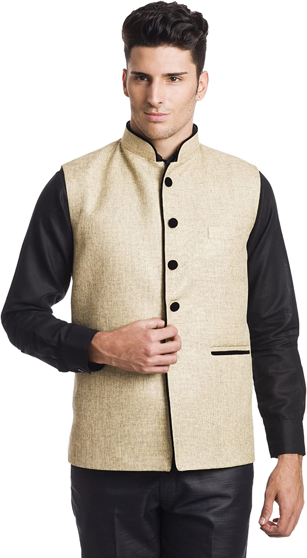 WINTAGE Men's Rayon Festive Nehru Vest Waistcoat- 15 Colors