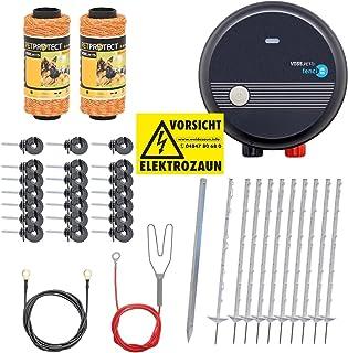 VOSS.PET Kit Valla eléctrica económica para jardín, Set Completo 230 V, con