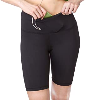 Sport-it Active Long Shorts, Bike Workout Running Shorts with Pockets and Tummy Control for Women