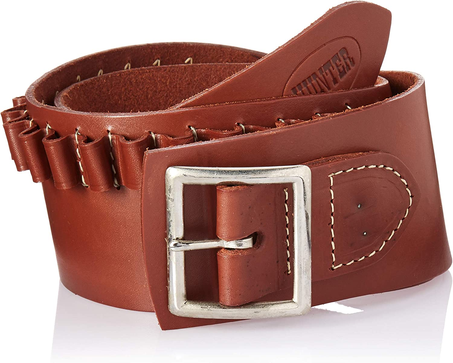 Hunter 0255RS Double Buscadero Belt, 45 Caliber Small, Brown