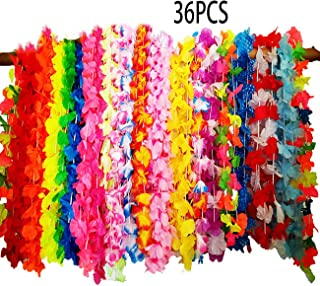 Hawaiian Leis Party Favor Sets 36PCS Tropical Hawaiian Luau Flower Leis for Adults and Kids Party Favors,Pre-Kindergarten&Grown-Up Toys