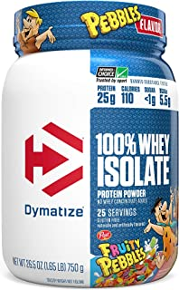 Dymatize 100% Whey Isolate Protein Powder, Fast Digestion & Absorption, Low Sugar & Low Calorie, Banned Substance Free, 1....