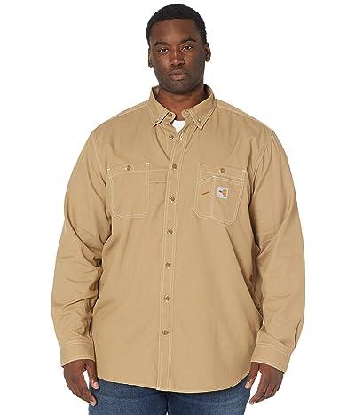 Carhartt Big Tall Flame-Resistant Force Original Fit Lightweight Long Sleeve Button Front Shirt