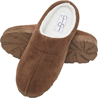 Jessica Simpson Microsuede Clog Slippers with Plush Microterry Lining and Indoor/Outdoor Sole