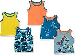 Amazon Essentials Camiseta sin Mangas Niños, Pack de 5