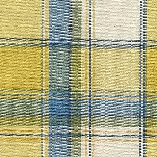 Longaberger Medium Canister Basket Cornflower Plaid Fabric Liner Over the Edge New In Bag