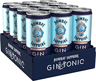 Bombay Sapphire Gin & Tonic ready to Drink Dose, 12er Pack 12 x 250 ml