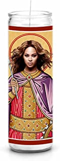 Beyonce Knowles Celebrity Prayer Candle - Funny Saint Candle - 8 inch Glass Prayer Votive - 100% Handmade in USA - Novelty Celebrity Gift (Beyonce)
