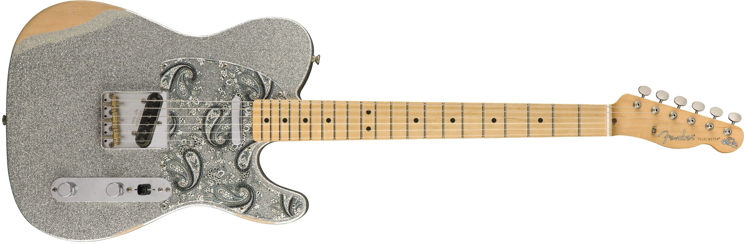 Cheap Fender Brad Paisley Road Worn Telecaster Electric Guitar - Maple Fingerboard - Silver Sparkle Black Friday & Cyber Monday 2019