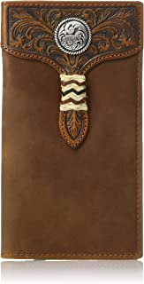 Ariat Men's Rawhide Wrap Overlay w/Concho Rodeo Wallet