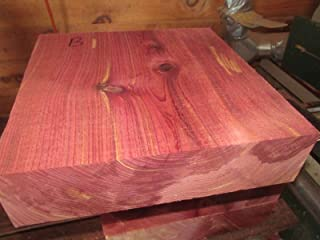 Wood) Large Beautiful Eastern RED Cedar Bowl Blank Lathe Lumber Carve 8 X 8 X 4