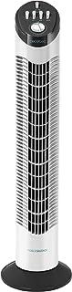 Cecotec Ventilador de Torre EnergySilence 790 Skyline. 30'' (76cm) de Altura, Oscilante, Motor de Cobre, 3 Velocidades, Temporizador 2 Horas, 50W