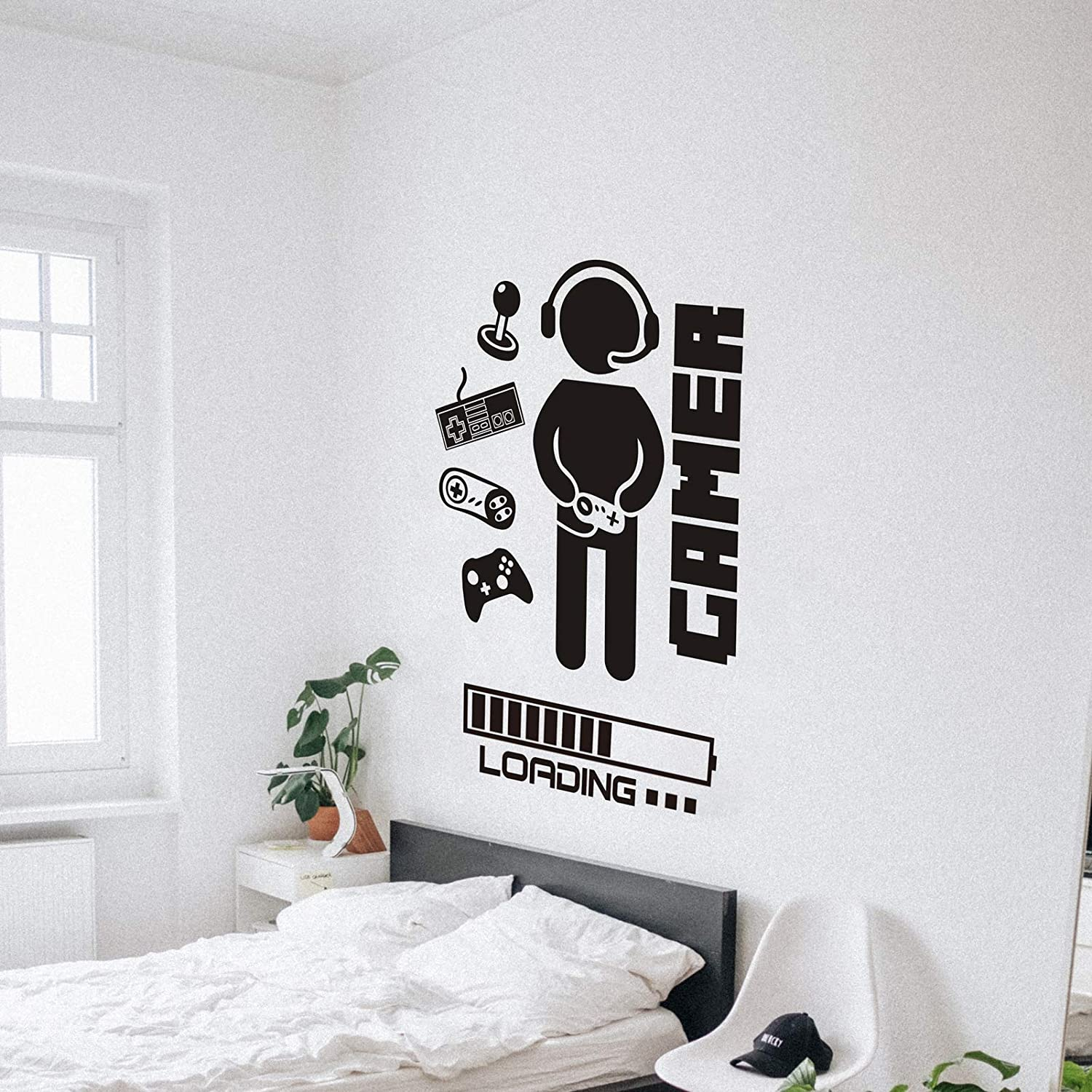 Buy Gaming Room Decor Boys Bedroom Wall Decals Stickers Video Game Loading Controller Vinyl Playroom Teen Large Cool Decoration Poster Gifts Online In Indonesia B08jv3ftt7