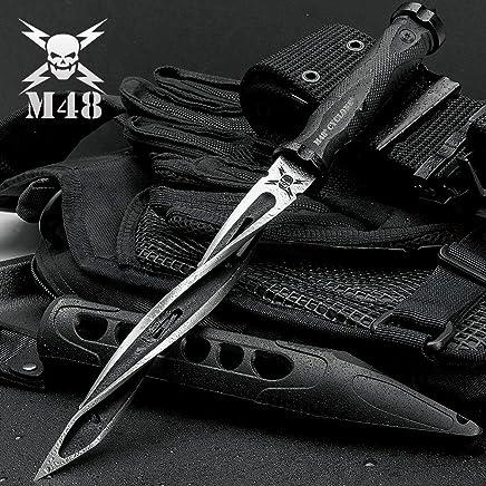 M48 Cyclone Tri-Edged Spiraling Dagger Knife With Custom Vortec Sheath