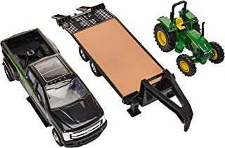 ERTL Ford Pickup with Gooseneck Trailer & John Deere Tractor
