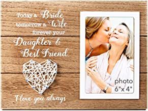 VILIGHT Mother of Bride Wedding Gift - Rustic Moms Picture Frame for 4x6 Inches Photo