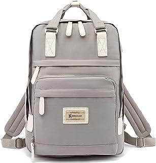 KeKour Rucksack Damen Lässiger Moderner Schulrucksack für 14 Zoll Laptop Rucksack Schule für Mädchen Teenager Camping, Rei...