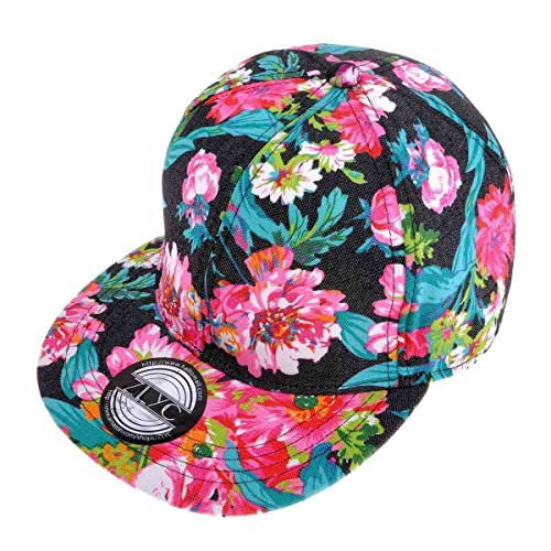 9fde56a66ba ZLYC Women Fashion Floral Print Adjustable Casual Snapback Baseball Cap Hat