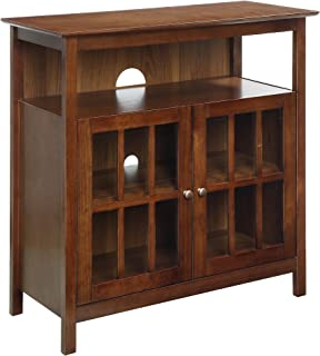 Convenience Concepts Big Sur Television Stand, Dark Walnut