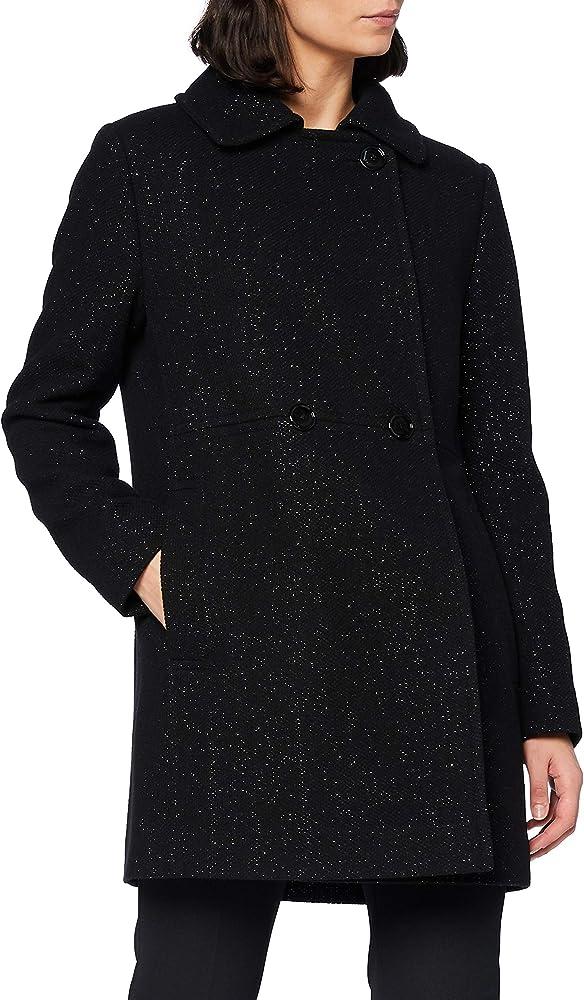 Hugo boss,cappotto per donna, doppiopetto in tweed con filati lucenti 50443734