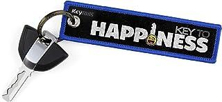 KeyTails Premium Qualität Motorrad Schlüsselanhänger Schlüsselring Kratzfest Ideal für Ihr Motorrad, Auto [Key to Happiness]