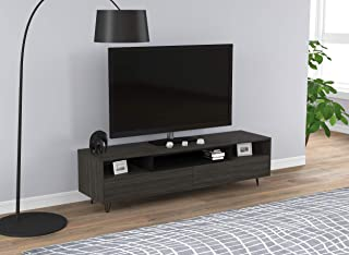 Safdie & Co. Center Table/Tv Console/Entertainment Stand/Media Cabinet, Grey Wood