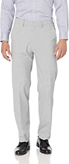 Haggar Men's Solid Gab 4-Way Stretch Straight Fit Flat Front Dress Pant
