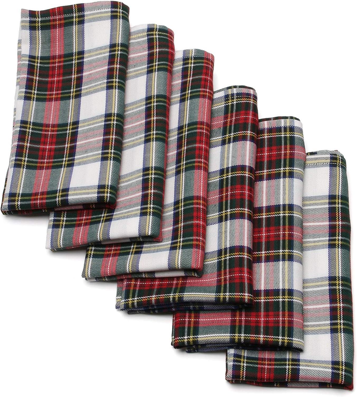 blanco, camino de mesa Ruth/&Boaz Mantel cuadrado de tart/án tradicional escocesa para cenas familiares y fiestas de Navidad 12 x 72 pulgadas