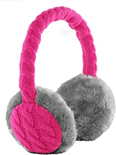 KitSound Chunky Knit Audio Earmuffs for iPhone, iPod, iPad Mini and MP3 Player - Pink