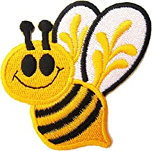 HHO Mr. BEE patch Embroidered DIY Patches, Cute Applique Sew Iron on Kids Craft Patch for Bags Jackets Jeans Clothes