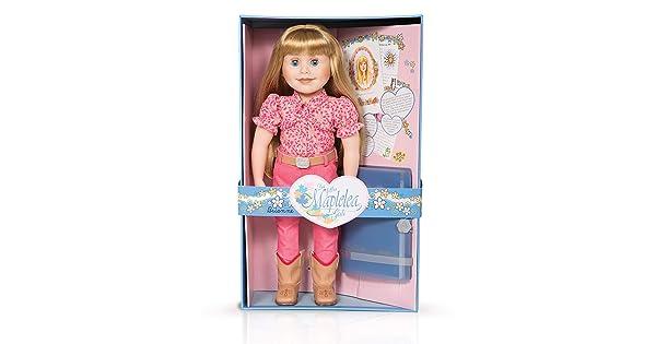 Long Blonde Hair with Bangs, fair Skin, Blue Eyes Maplelea Brianne 18 Inch Doll