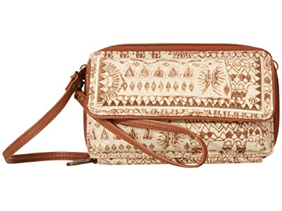 Sakroots Luna Smartphone Crossbody (Tobacco Batik World) Cross Body Handbags