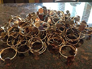 Wholesale 10 Bourbons and Boweties style wire wrapped bangle bracelets random mix