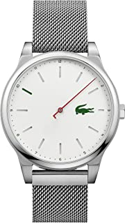 Lacoste Men's Kyoto Quartz Watch with Stainless-Steel Strap, Silver, 20 (Model: 2010969)
