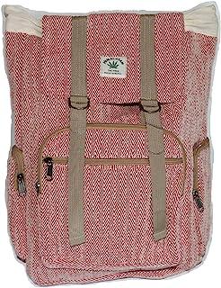 Mochila de cáñamo / mochila de cáñamo / mochila de cáñamo / bolsa de cáñamo con cordón, color rojo, hecha a mano en Nepal (fabricado en Nepal) - Modelo 67.4