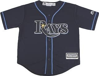 Majestic MLB Kid's Tampa Bay Rays Baseball Navy Blue Jersey