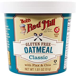 Bob's Red Mill Gluten Free Oatmeal Classic Cup, 1.81 Oz (Pack of 12)