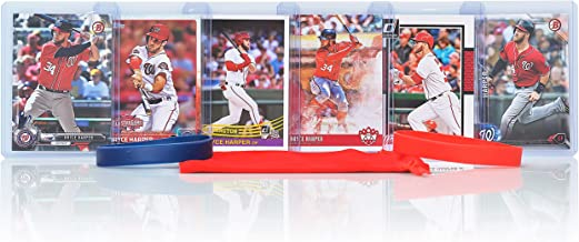 Bryce Harper (6) Assorted Baseball Cards Bundle - Washington Nationals Trading Cards
