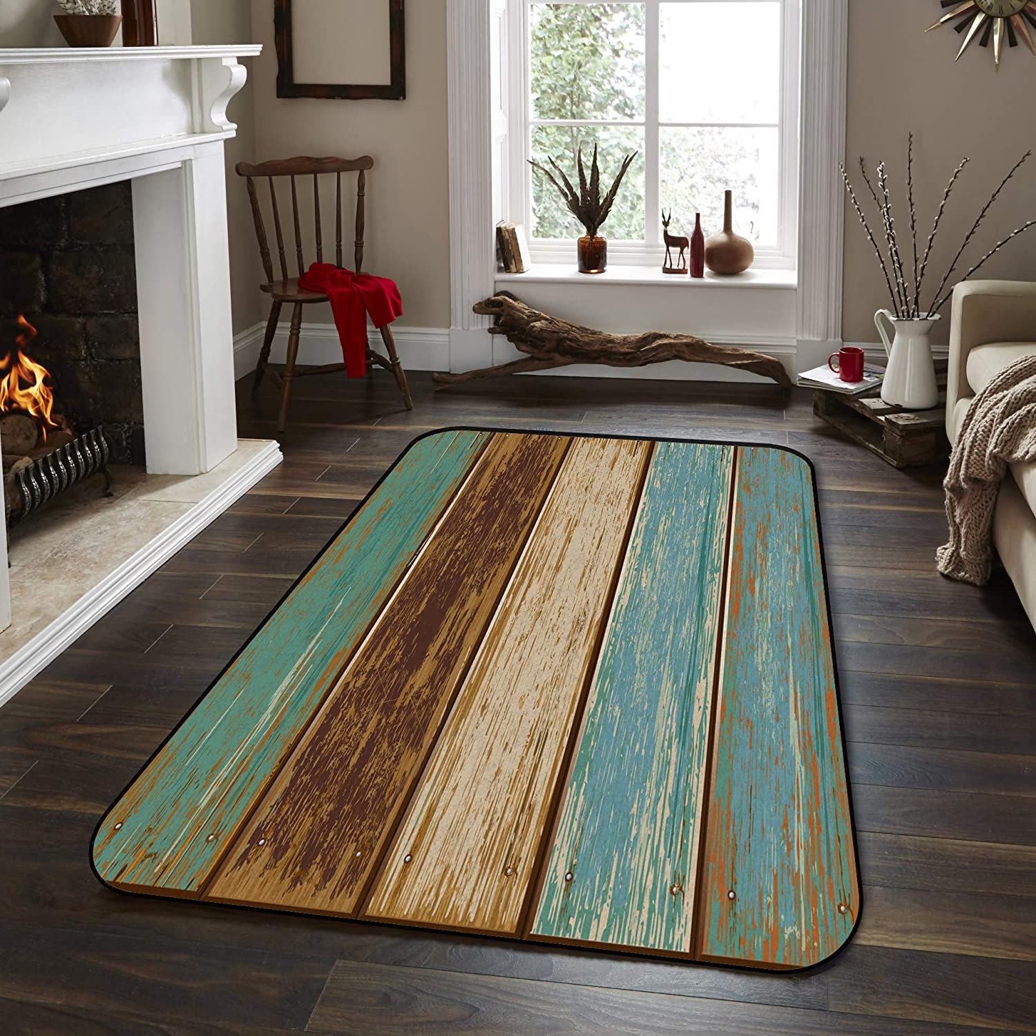 Soft Area Rugs for Bedroom Nautical Large special price 25% OFF Car Rug Rustic Wood Washable