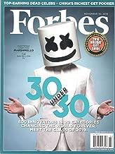 Forbes Magazine (November 30 2018) Electronic Cash King Marshmello The $44 Million DJ 30 Under 30 Issue