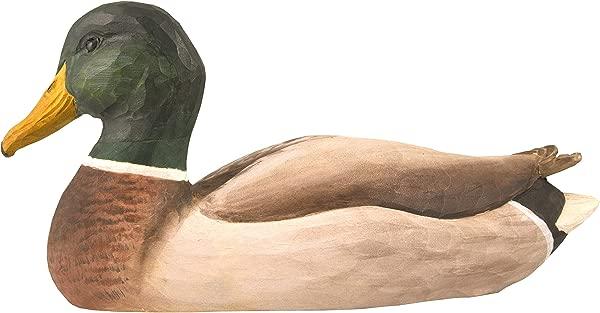 WILDLIFEGARDEN Male Mallard DecoBird Hand Carved Wood Replica For Indoor Or Outdoor Use Artisanal Life Like Figurine Designed In Sweden
