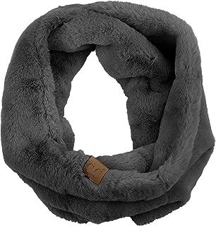 Women's Soft Faux Fur Feel Neck Warmer Collar Snood Loop Infinity Scarf