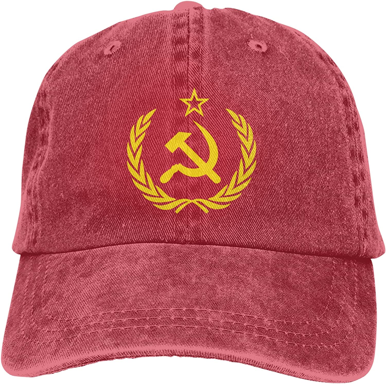 CUTEDWARF Soviet Union CCCP USSR Emblem Unisex Adjustable Cotton Baseball Hat Cowboy Cap Dad Hats Denim Trucker Hat