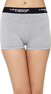 LEADING LADY Women's Plain/Solid Boy Shorts (575_Grey_Large)