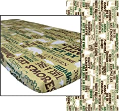 In the Breeze 8104 Rustic Camping 36 Inch x 96 Inch Fitted Tablecloth, 36in x 96in (8ft),