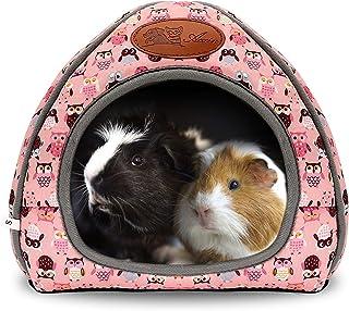 BWOGUE خنزير غينيا سرير منزل دافئ هامستر كهف كبير مخبأ للأرانب القدامى القنفذ الملتحي التنين الشتاء عش الهامستر قفص الملحقات