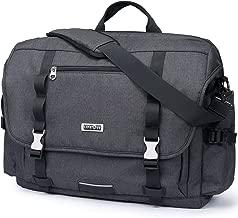 Lifewit 17 inch Laptop Messenger Bag Military Business Briefcase Water Resistance Multifunctional Work Crossbody Bags School Bookbag, USB Charging Port