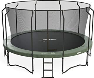 Acon Air 4.6 Trampoline 15ft with Premium Enclosure | Includes 15ft Round Trampoline and Premium Safety Net | 110 Heavy Duty 8.5in Springs