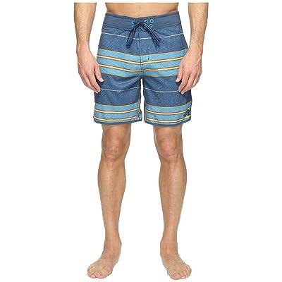 The North Face Whitecap Boardshorts Short (Shady Blue Chambray Stripe (Prior Season)) Men