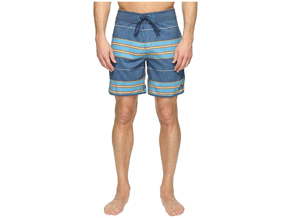 The North Face Whitecap Boardshorts Short (Shady Blue Chambray Stripe (Prior Season)) Men